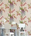 Soraya,-col.03-Blumen-Blätter-Vögel-Fauna-Florale-Muster-Creme-Multicolor