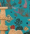 Sous-La-Mer,-blue-Unterwasserwelt-Fische-FotoTapeten-Türkis-Multicolor