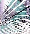 Space-Grid,-Spring-Blätter-3D-Tapeten-abstrakt-FotoTapeten-Lila-Türkis