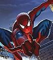 Spiderman-Rooftop-Figuren-Kunst-Comic-FotoTapeten-Rot-Blau-Multicolor