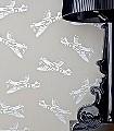 Spitfires,-grey-Flugzeuge-KinderTapeten-Silber-Grau