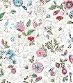 Spring-to-Life,-col.10-Blumen-Vögel-Florale-Muster-Braun-Weiß-Multicolor