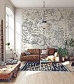 Star-Map,-White-Tiere-Figuren-Zeichnungen-Sterne-Klassische-Muster-FotoTapeten-Grau-Creme