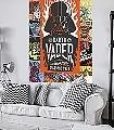 Star-Wars-Celebrate-The-Galaxy-Grafitti-FotoTapeten-Orange-Schwarz-Weiß