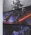 Star-Wars-Moments-Imperials-Figuren-Comic-Collage-FotoTapeten-Rot-Blau-Grau-Schwarz