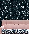 Star-ling,-midnight-&-silver-Vögel-Sterne-Moderne-Muster-Blau-Silber