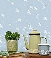 Star-ling,-powder-blue-Vögel-Sterne-Moderne-Muster-Weiß-Hellblau