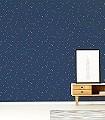 Stars,-col.07-Sterne-KinderTapeten-Blau-Gold
