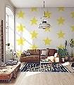 Sterne,-gelb-Sterne-Moderne-Muster
