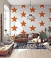 Sterne,-orange-Sterne-Moderne-Muster