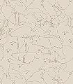 Storchennest,-col.-1-Figuren-Vögel-Moderne-Muster-Braun-Creme