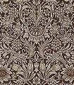 Sunflower-Chocolate/Cream-Blumen-Blätter-Klassische-Muster-Florale-Muster-Braun-Creme