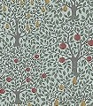 Sveen,-col.-4-Bäume-Blätter-Früchte-Florale-Muster-Rot-Blau-Hellgrün-Hellbraun