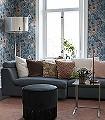 Svenja,-col-4-Blumen-Blätter-Klassische-Muster-Jugendstil-Blau-Braun-Weiß-Hellblau