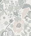 Svenja,-col.-30-Blumen-Blätter-Klassische-Muster-Jugendstil-Grau-Hellgrün-Creme-Hellbraun