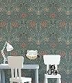 Svian,-col.-10-Blumen-Blätter-Klassische-Muster-Jugendstil-Grün-Hellgrün-Creme-Hellbraun