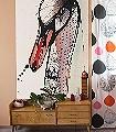 Swan-in-Love-Vögel-Zeichnungen-Aquarell-FotoTapeten