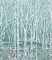 Sylvania,-col.-1-Bäume-Landschaft-Blätter-Florale-Muster-Grün-Creme-Ocker