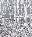Sylvania,-col.-2-Bäume-Landschaft-Blätter-Florale-Muster-Grau-Creme-Ocker