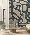 TANGLED,-Art-conceptuel-Graphisch-Moderne-Muster-FotoTapeten-Anthrazit-Creme
