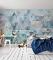 TRIANGLES-BLUE-Graphisch-FotoTapeten-Grafische-Muster-Multicolor