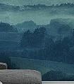 TWILIGHT--Landschaft-Moderne-Muster-FotoTapeten-Blau