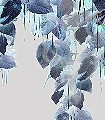 Talbots-Calotype-Blätter-Ranken-Florale-Muster-Multicolor