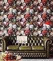 Talibe,-col.10-Blumen-Florale-Muster-Barock-Schwarz-Multicolor