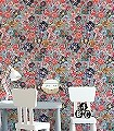 Tamila-Blumen-Stoff-Collage-Moderne-Muster-Grau-Multicolor