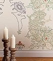 Tea-Anyone,-CW4-Ornamente-Figuren-Moderne-Muster-Grün-Grau-Creme-Multicolor