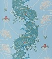 Tea-Anyone,-CW5-Ornamente-Figuren-Moderne-Muster-Grün-Türkis-Creme-Hellblau-Hellbraun