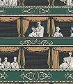 Teatro,-col.-9-Figuren-Zeichnungen-Moderne-Muster-Grün-Gold-Schwarz-Ocker