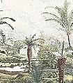 The-Fern-design,-col.-1-Bäume-Landschaft-Blätter-Florale-Muster-FotoTapeten-Grün-Braun-Anthrazit-Creme