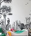 The-Wild,-Large-Tiere-Moderne-Muster-Schwarz-Weiß