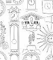 Tick-Tock,-snow-'colour-me'-Uhren-Moderne-Muster-KinderTapeten-Schwarz-Weiß-Schwarz-und-Weiß