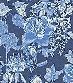 Tivoli,-col.02-Blumen-Blätter-Toile-de-Jouy-Florale-Muster-Blau-Creme-Hellblau