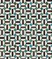 Toro-Kachel-Quadrate/Rechtecke-Moderne-Muster-Grün-Anthrazit-Türkis-Weiß