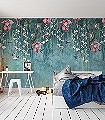 Trailing-Orchid,-col.-1-Blumen-Vögel-Florale-Muster-FotoTapeten-Multicolor
