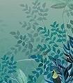 Tribute-Jungle,-col.-2-Tiere-Bäume-Landschaft-Blätter-Vögel-Fauna-Florale-Muster-Moderne-Muster-FotoTapeten-Multicolor