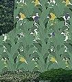 Tropical-Dream,-Bahn-B-Blätter-Früchte-Florale-Muster-Grün-Lila-Creme-Ocker