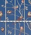 Uccelli,-col.-3-Bäume-Blätter-Vögel-Fauna-Florale-Muster-FotoTapeten-Multicolor