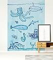 Unterwasser-ganz-groß-Unterwasserwelt-Fische-Zeichnungen-KinderTapeten-Blau-Hellblau