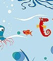 Unterwasserwelt-Motiv,-col.-01-Unterwasserwelt-Fische-Fauna-KinderTapeten-Multicolor-Hellblau