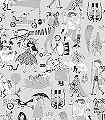 Vära-Visor,-col.01-Figuren-Gegenstände-Zeichnungen-Retro-Muster-Grau-Schwarz-Weiß
