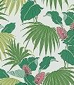 Vernazza,-col.-4-Blumen-Blätter-Florale-Muster-Rot-Grün-Creme