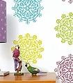Vier-Zeiten-Ornamente-Kunst-Retro-Muster-Multicolor