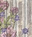 Vintage-Rose-Blumen-Holz-FotoTapeten-Grün-Rosa-Creme