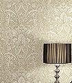 Wasmut,-col.01-Blumen-Ranken-Klassische-Muster-Gold-Grau-Creme-Perlmutt