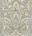 Wasmut,-col.05-Blumen-Ranken-Klassische-Muster-Gold-Grau-Braun-Creme-Perlmutt