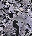 Wesley,-col.02-Tiere-Blätter-Florale-Muster-Art-Deco-Silber-Lila-Schwarz-Flieder